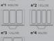 Варианты матриц для ручного запайщика лотков Pack Poseidon Gastronorm