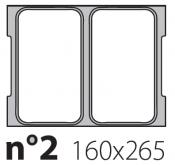 Матрица на запайщик лотков Oceania Mini 165×265