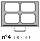 Матрица на запайщик лотков Poseidon Gastronorm 190×140