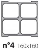 Матрица на запайщик лотков Poseidon Jolly 160×160
