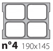 Матрица на запайщик лотков Olympus 190×145