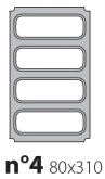 Матрица на запайщик лотков Express 80×310