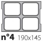 Матрица на запайщик лотков Oceania 190×145